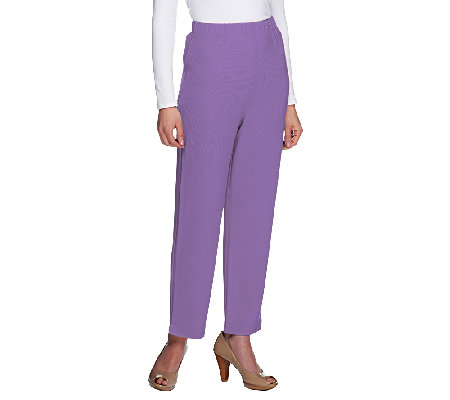 Susan Graver Lustra Knit Regular Pull-on Ankle Pants