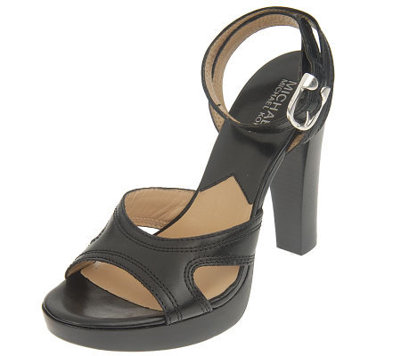 MICHAEL Michael Kors Trenton Leather Platform Sandals
