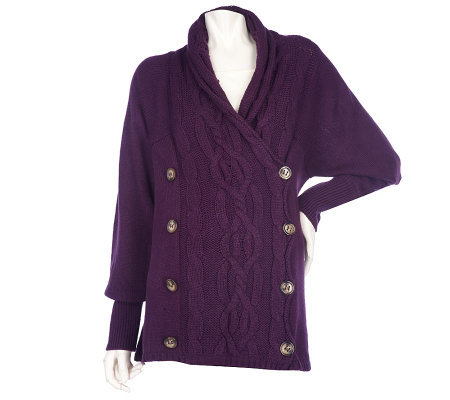 Simply. Chloe Dao Cardigan with Button Back Scarf