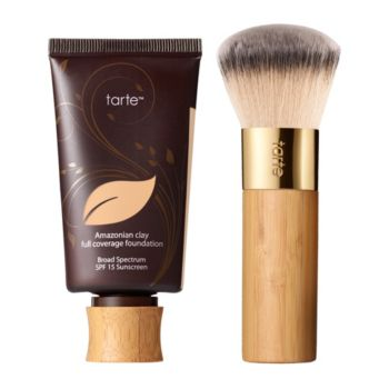 tarte Amazonian Clay Full-Coverage Foundation SPF 15 w/Brush