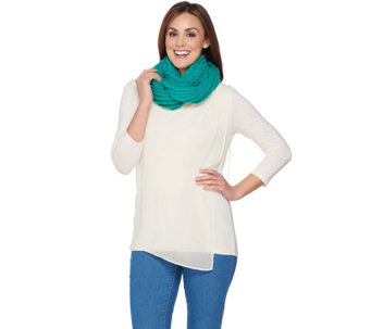 After the Rain All-over Mini Ruffle Infinity Scarf - A227501