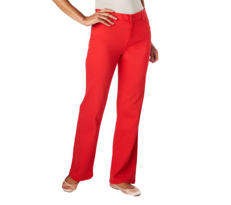 Isaac Mizrahi Live! Icon Grace Stretch Wide Leg Pants