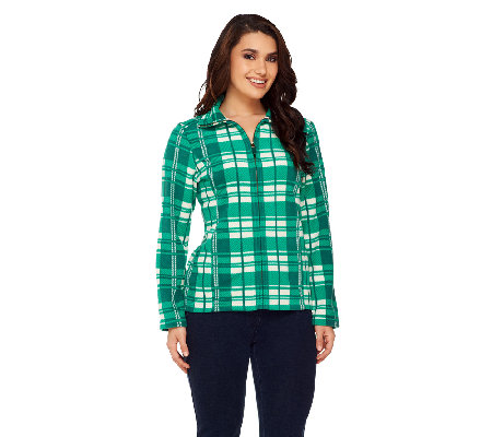 Liz Claiborne New York Plaid Fleece Jacket