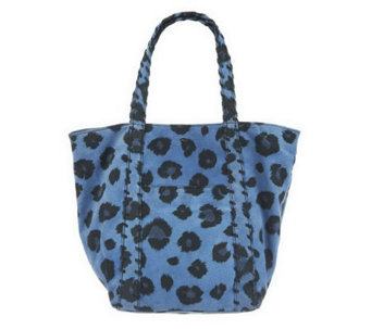 """As Is"" Kelsi Dagger Ryan Leopard Print Double Strap Shoulder bag - A240901"