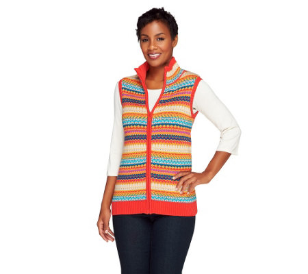 Liz Claiborne New York Fair Isle Sweater Vest