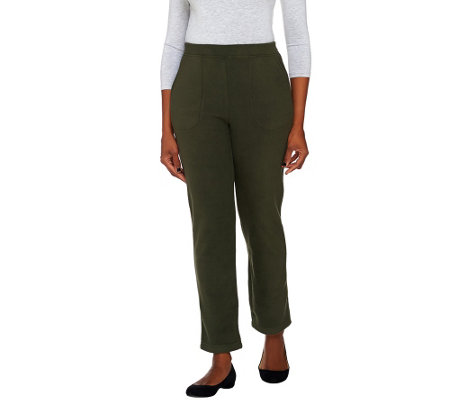 Denim & Co. Active Regular Fleece Pants with Pockets