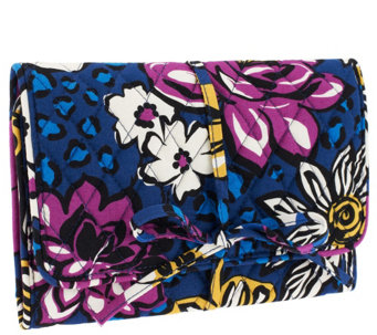 """As Is"" Vera Bradley Signature Print All Wrapped Up Jewelry Roll - A267801"