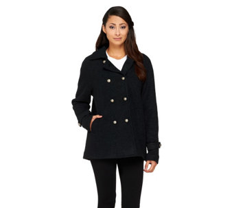 """As Is"" Linea by Louis Dell'Olio Button Front Swing Coat - A268301"