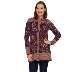 Liz Claiborne New York Double Knit Sweater Coat - A269201