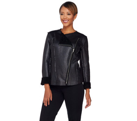 Attitudes by Renee Zip Front Reversible Jacket