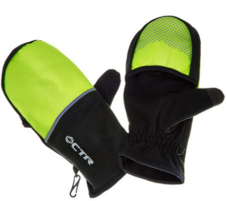 CTR Convertible Gloves with Pocket & Silver Smart Touch