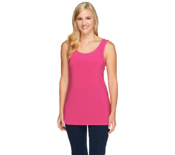 """As Is"" Attitudes by Renee Scoop Neck Tuni Tank w/ Side Slits - A272701"