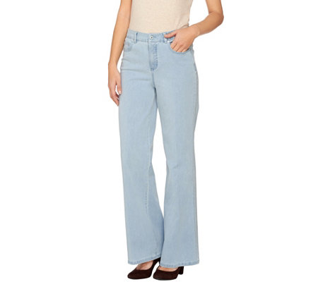 Isaac Mizrahi Live! Petite 24/7 Denim Wide Leg 5-Pocket Jeans