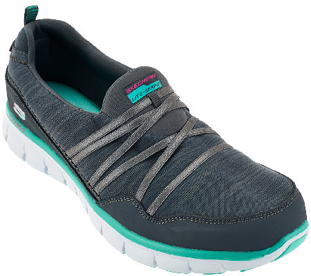 Skechers Mesh Slip-on Sneakers with Memory Form Fit - Scene Stealer