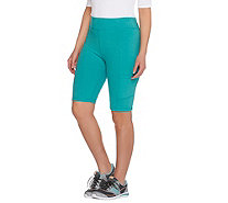 LOGO Lotus by Lori Goldstein Knit Shorts with Patch Pockets - A275001
