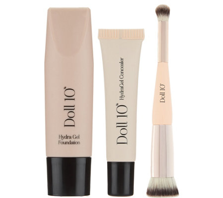 Doll 10 HydraGel Foundation & Concealer Set with Brush