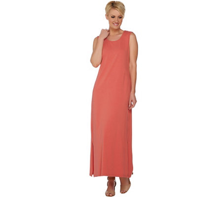Denim & Co. Solid Scoop Neck Sleeveless Maxi Dress