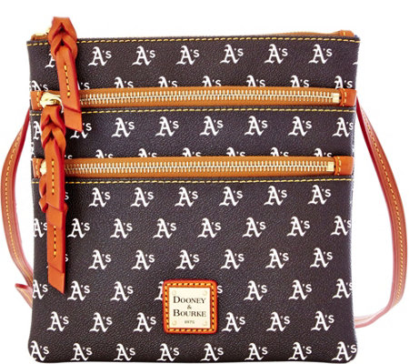 Dooney & Bourke MLB Athletics Triple Zip Crossbody