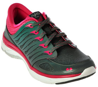 Ryka Lace-up Walking Sneakers - Flora - A281101