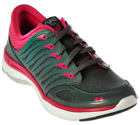 Ryka Lace-up Walking Sneakers - Flora