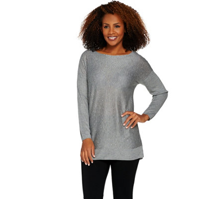 Attitudes by Renee Dolman Sleeve Sweater with Stud Detail