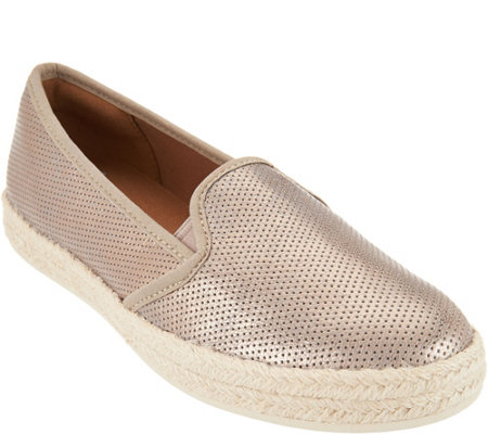 Clarks Suede Slip-on Espadrilles - Azella Theoni