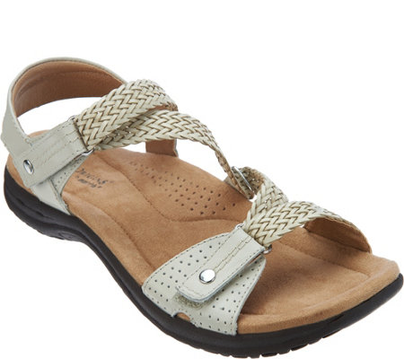 Earth Origins Leather Adjustable Sandals - Stella