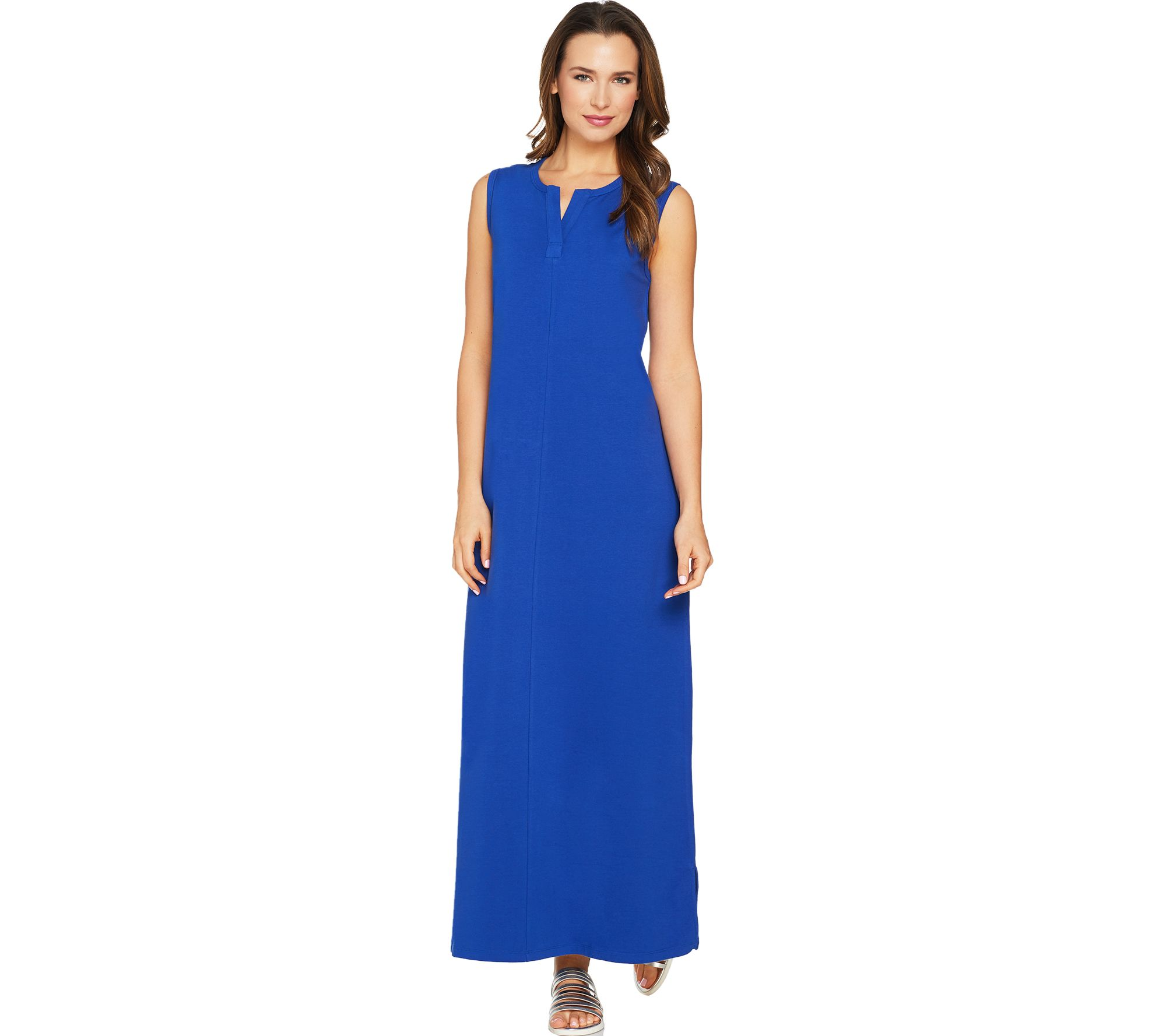 Denim & Co. Petite Sleeveless Perfect Jersey Maxi Dress - A290201