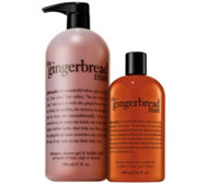 philosophy gingerbread man home & away shower gel duo