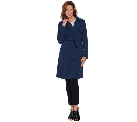 """As Is"" H by Halston Knee Length Trench Coat"