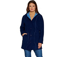 Susan Graver Weekend Bonded Polar Fleece Jacket - A297701