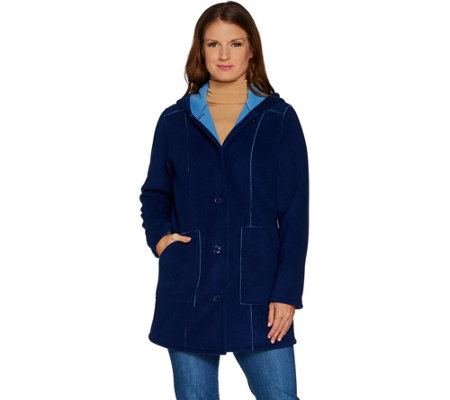 Susan Graver Weekend Bonded Polar Fleece Jacket