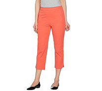 """As Is"" Isaac Mizrahi Live! Regular 24/7 Stretch Pull-On Crop Pants - A299301"