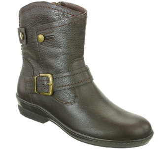 David Tate Leather Boots with Buckles - Relax - A338301