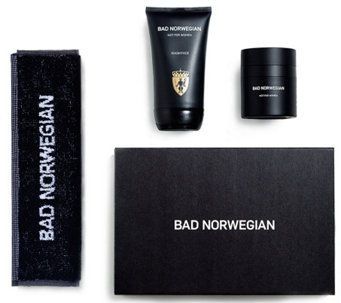 BAD NORWEGIAN Men's Moisturizer, Face Wash with Face Towel - A338901
