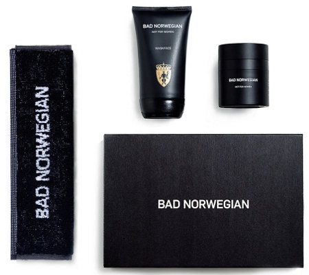 BAD NORWEGIAN Men's Moisturizer, Face Wash with Face Towel