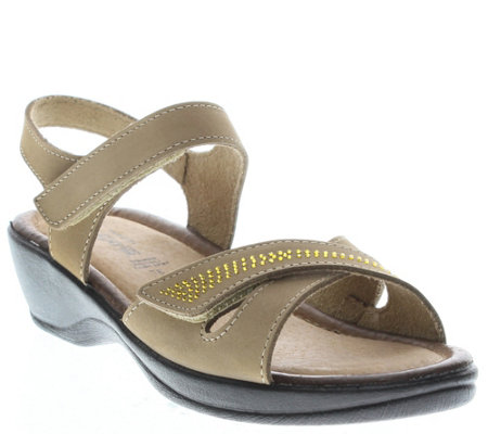 Flexus by Spring Step Leather Sandals - Caric