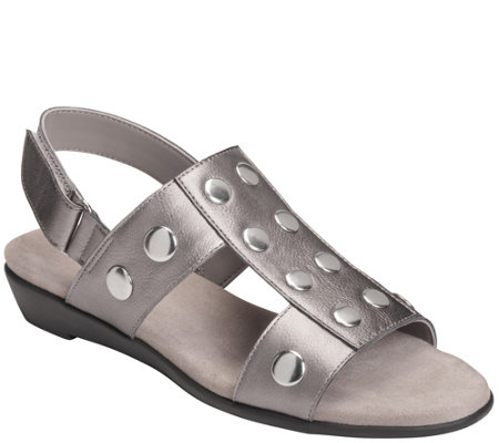 Aerosoles Low Wedge Sandals - At Heart
