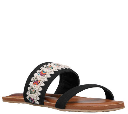 Sakroots Double Band Slide Sandals - Raine