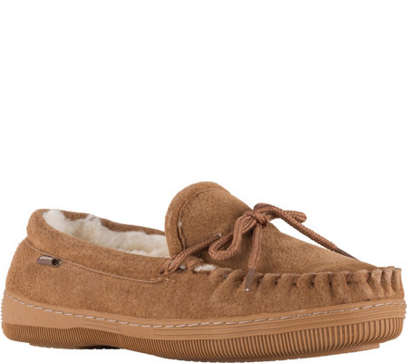 Lamo Suede Moccasins with Lace