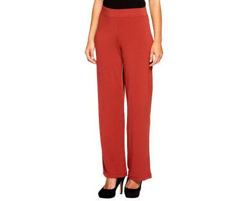 Susan Graver Essentials Liquid Knit Pull-on Pants Regular