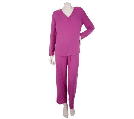 Modern Luxury by Carole Hochman 2pc Pajama Set w/ Pleat ...