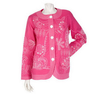 Quacker Factory All-Over Embroidered Jacket - A198602