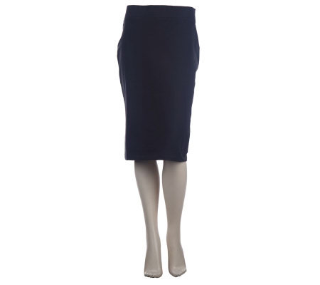 Women with Control Wide Waistband Pull-on Pencil Skirt