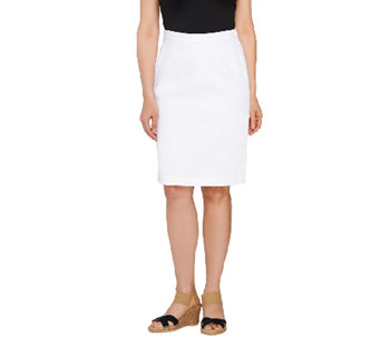 Joan Rivers Denim Slim Skirt - A223202