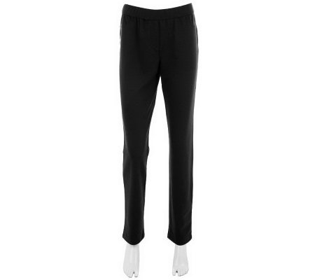 Kelly by Clinton Kelly Tapered Leg Pants with Faux Fly