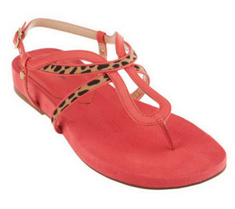 Isaac Mizrahi Live! Leather Thong Sandals - A233502