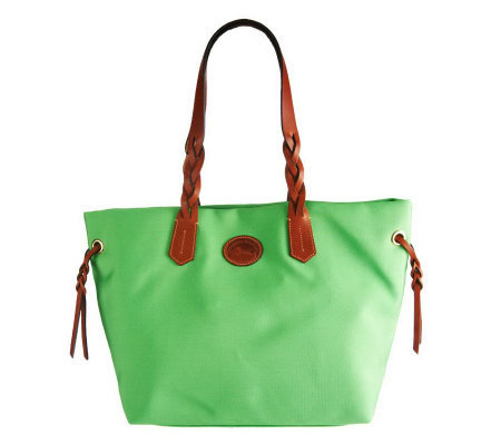 Dooney & Bourke Nylon Shopper with Braided Handles