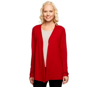 Linea by Louis Dell'Olio Whisper Knit Drape Front Cardigan - A237402