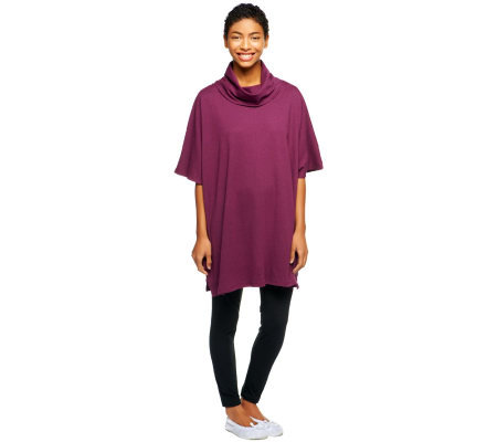 Carole Hochman Heathered Poncho and Legging Lounge Set